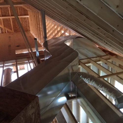 An air duct in an home