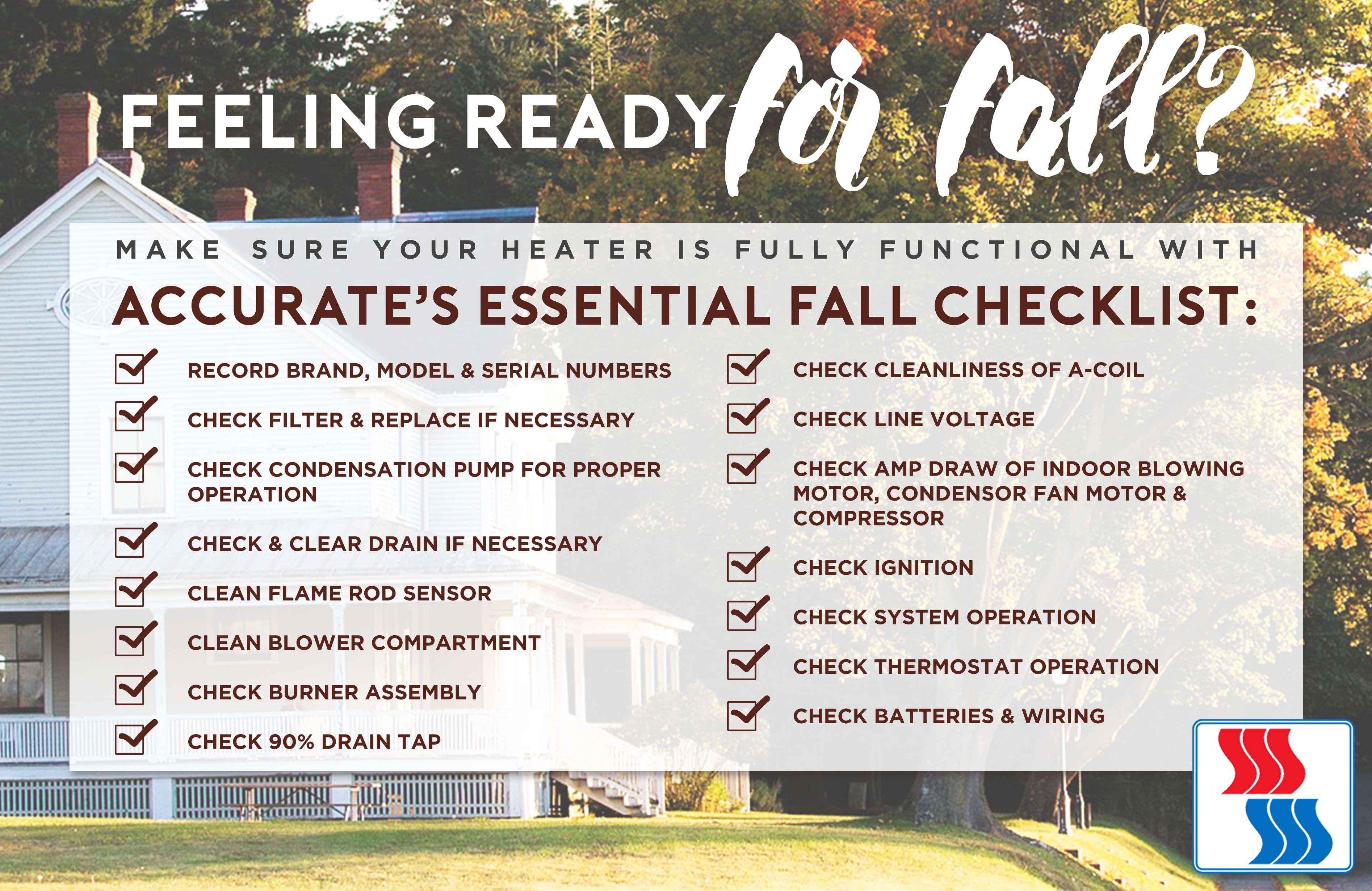 Essential Fall HVAC Checklist