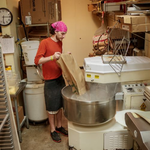 making bagel dough
