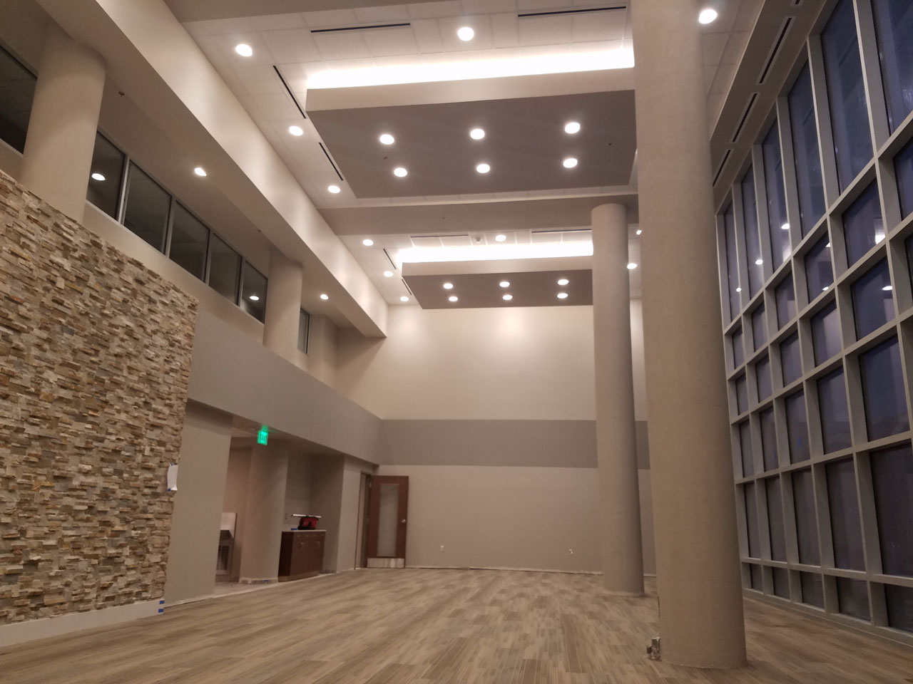 commercial painting site