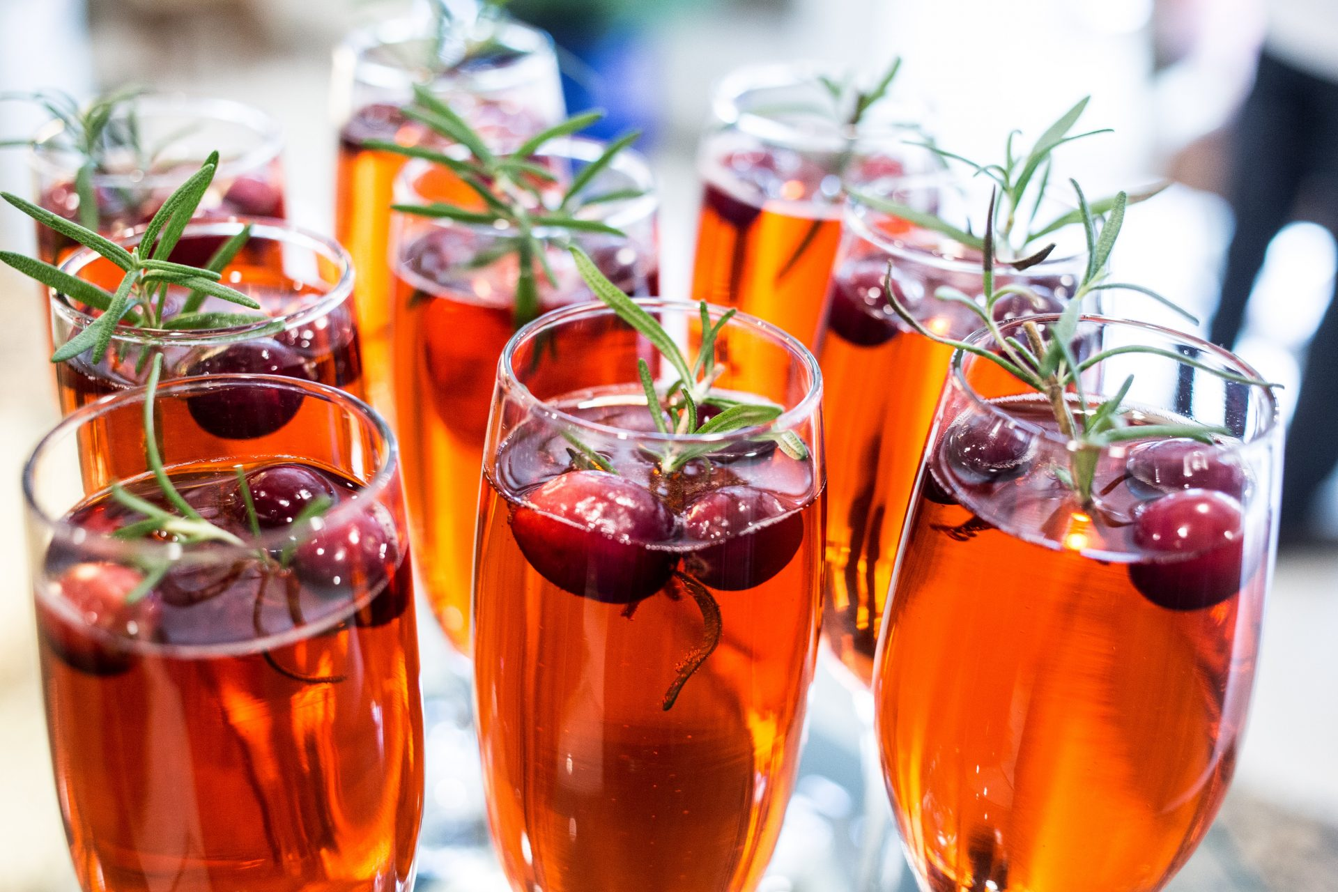 Custom craft cocktails served at a wedding by Bleu Events
