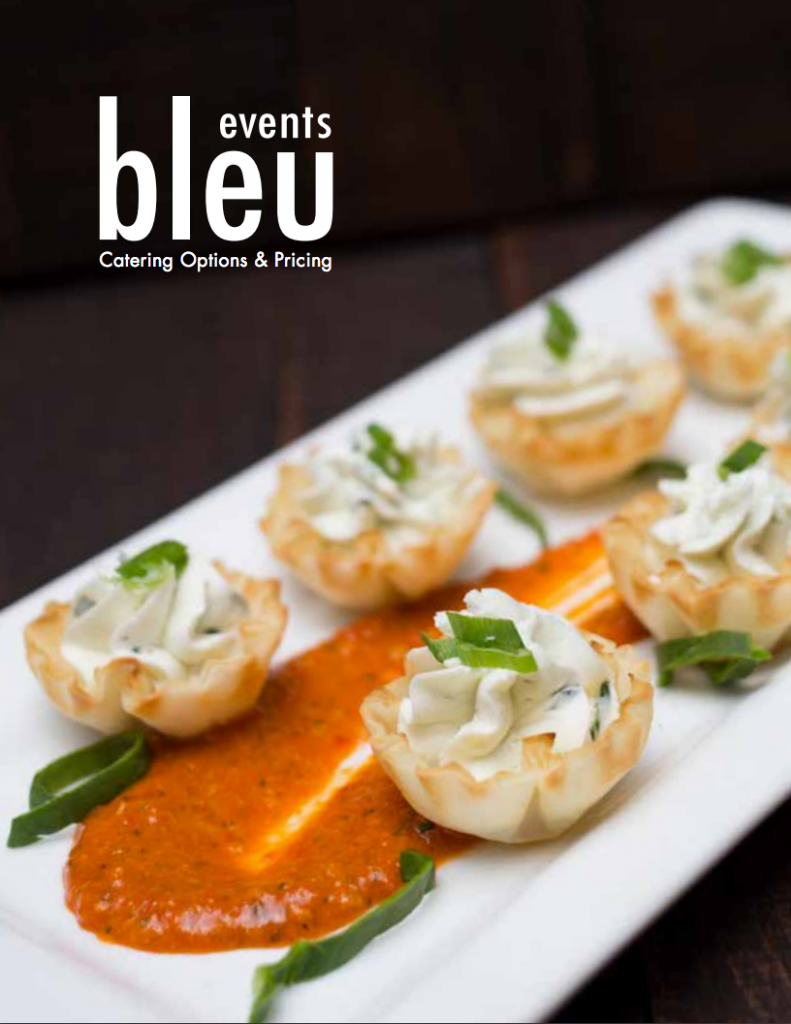 Front cover of Bleu Events St. Louis Catering Event Guide PDF
