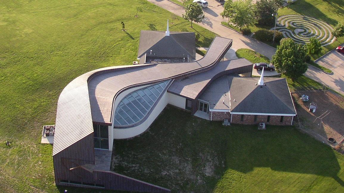 Arial view of Rock Bridge Christian Church