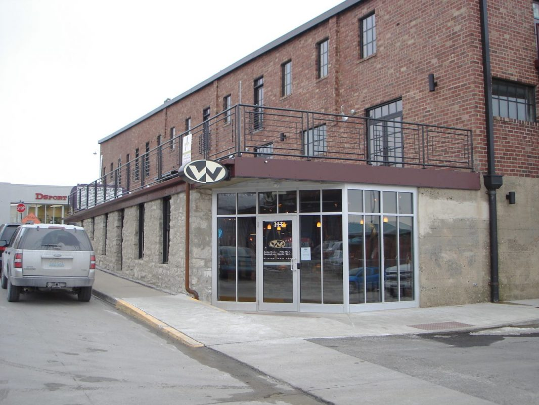 Exterior of Wilson Fitness in Columbia, Mo, constructed by Huebert
