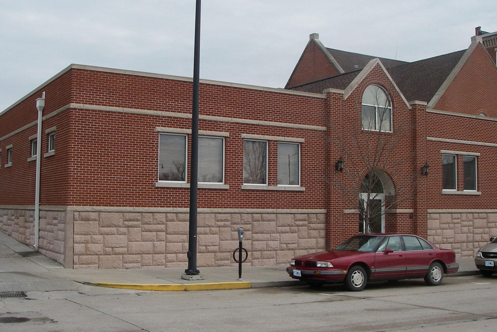 Exterior of commercial construction for church addition