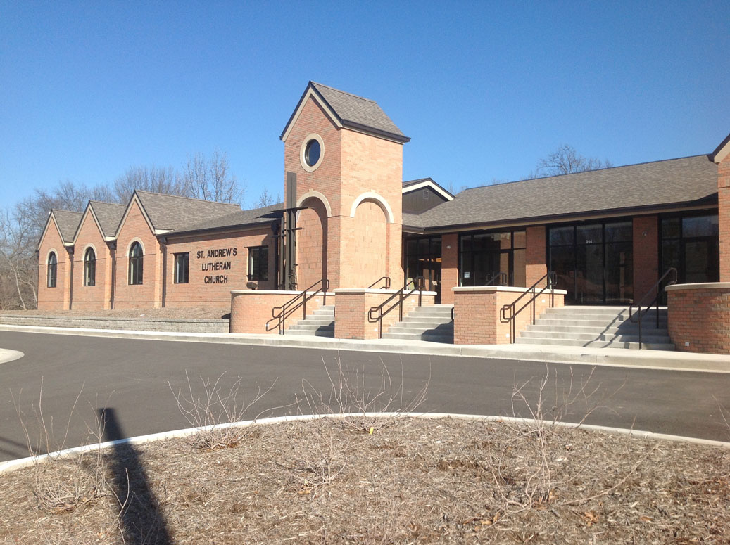St. Andrew's church built by Huebert Builders for commercial project
