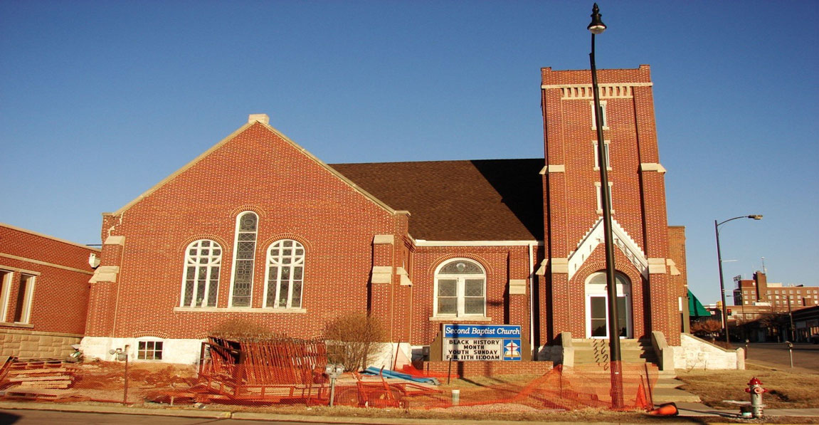 The construction of an addition to Second Baptist Church in Columbia, Mo.