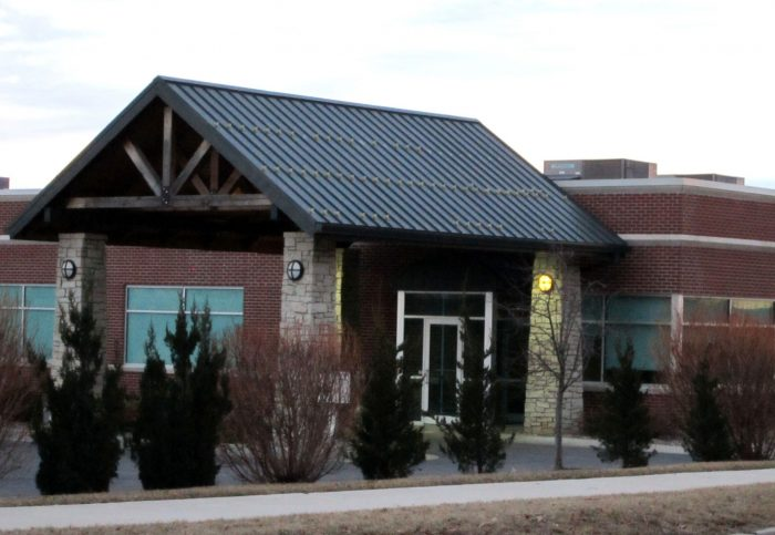 Front entrance of Retina Associates by Huebert Builders