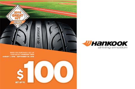Hankook $100 off coupon