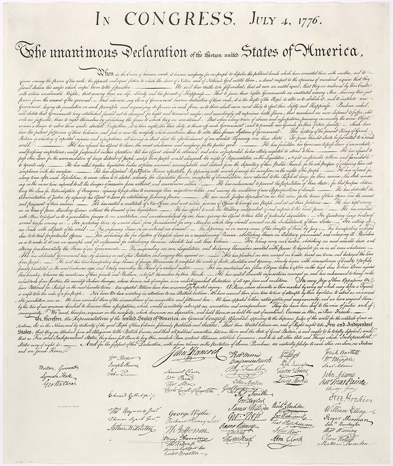 has america lived up to the ideals of declaration of independence essay