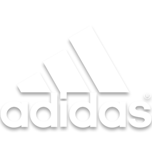 Adidas logo in white