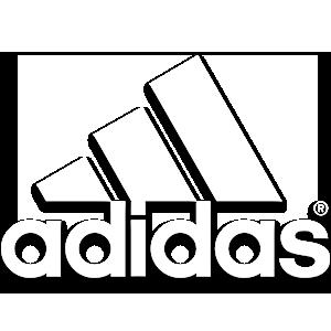 Adidas logo in white