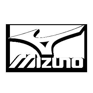 Mizuno brand logo in white