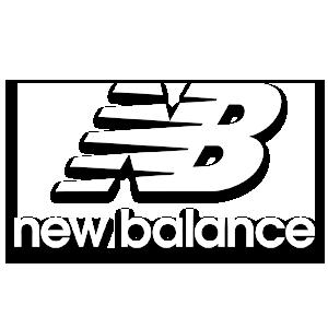 New Balance logo image in white