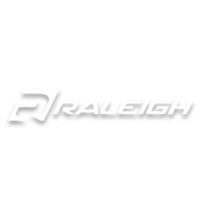 Raleigh brand logo in white