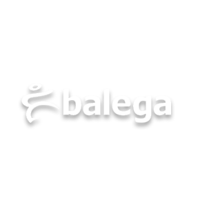 Balega logo image in white
