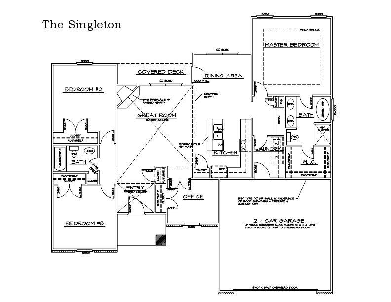 The Singleton Custom Home Floor Plan in Columbia, Mo