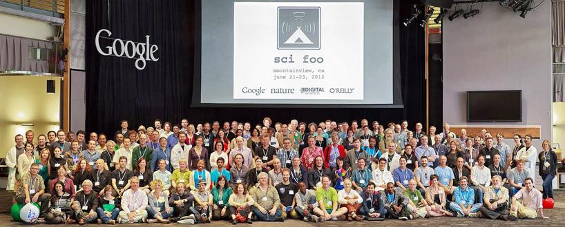 The SciFoo 2013 alumini, photographed at Google, June 2013.