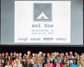 The SciFoo 2013 alumini, photographed at Google, June 2013.