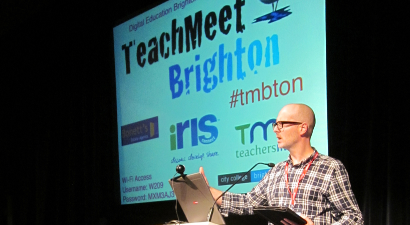 Paul Plaits speaking at Teachmeet
