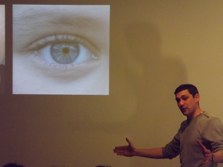 Photo from Adam Rutherford's February Monthly Talk.