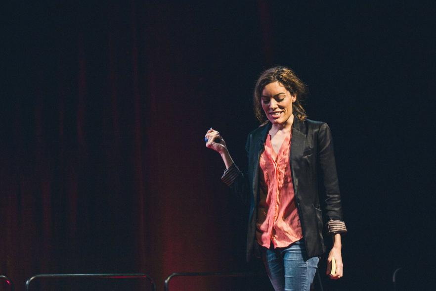 Leila Johnston speaks at TEDxBrighton © Toby Lewis Thomas