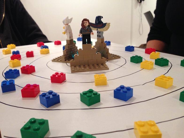 Studio resident Chris Pinchen prototypes a game for Brighton Cryptofest, with MA Student Maf'j Alvarez