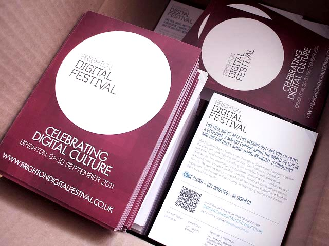 Brighton Digital Festival fliers