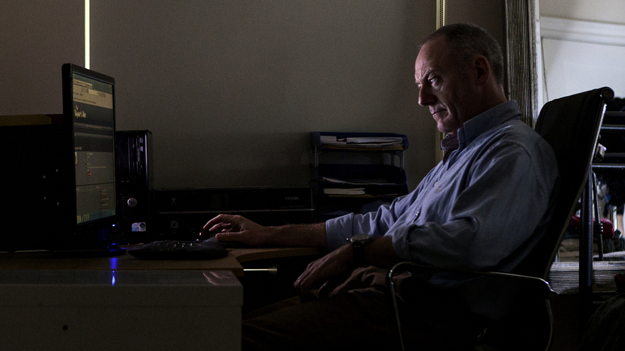 Elliot (Liam Cunningham) in SLR, photo by Aidan Monaghan