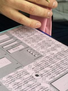 Data Collection Forms from The Pink Sheet Method by Thickear, photo courtesy of Sarah Pickthall.
