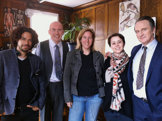 CROCODILE writer Robin French, actor Alex MacQueen, producer Ohna Falby, director Gaëlle Denis, actor Michael Gould.