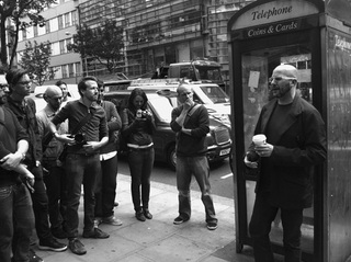 Adam Greenfield leading a Walkshop, photo courtesy of Networked Performance