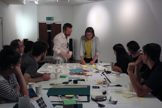 Coralie Gourguechon with participants of her first workshop at Lighthouse.