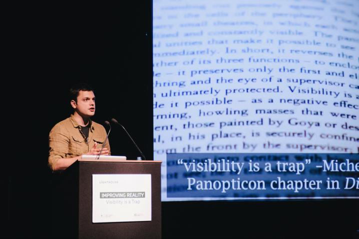 Nathan Jurgenson, speaker at Improving Reality 2014. Photo by Roberta Mataityte