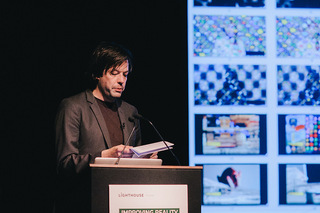 Daniel van der Velden of Metahaven - Improving Reality 2014 Speaker. Photo by Roberta Mataityte