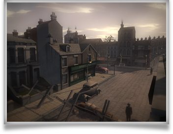 A still from the Lives at War online game