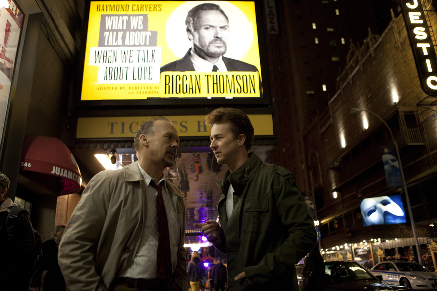 Still from Birdman, premiering at the opening night of CINE-CITY 2014