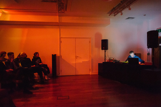 Musician and artist TCF at Lighthouse's first Progress Bar