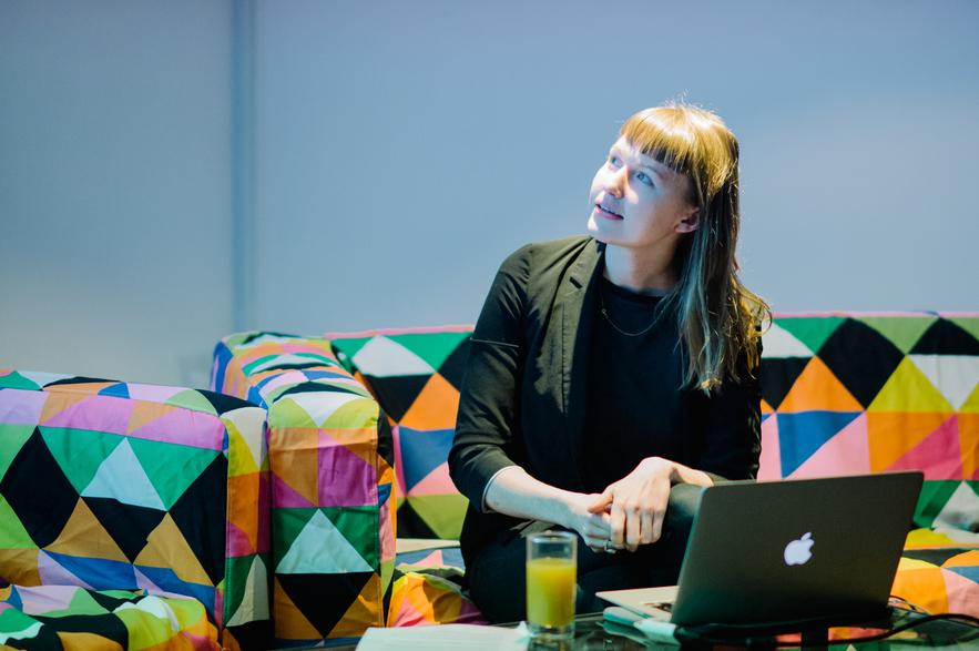 Basia Lewandowska Cummings, the first-ever Progress Bar guest (photo by Roberta Mataityte)