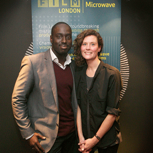 Producer Yaw Basoah and writer/director Faye Gilbert at the London Film, Microwave event