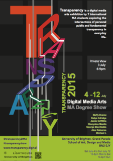 Transparency – MA Degree Show 2015