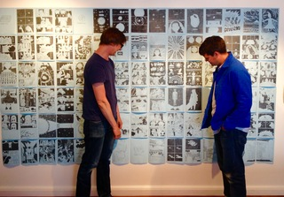 David Blandy and Daniel Locke working on their 200-page graphic novel, Out of Nothing, at Lighthouse