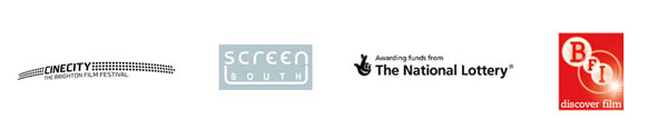 Cinecity, screensouth, BFI and lottery logos