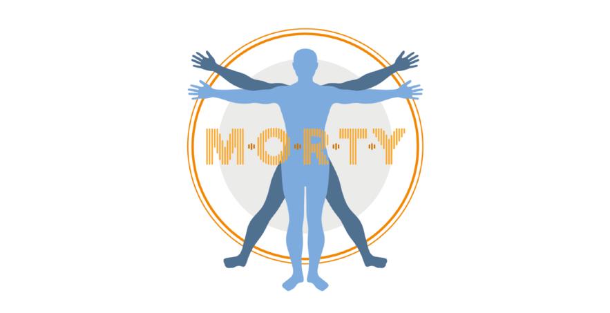 M.O.R.T.Y Life Extension logo – Brighton Digital Festival 2015 newforms commission by Leila Johnston