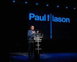 Paul Mason introduces the idea of a post capitalist era at The Long Progress Bar