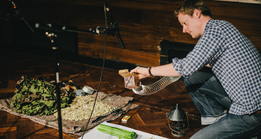 Foley artist Barnaby Smyth shows us how it's done at The Sound of Story 2014