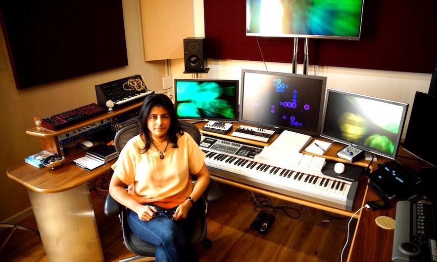 Nainita Desai in her studio