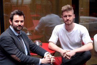 BAFTA nominated mentor Matt Charman (left) with mentee Matthew Orton