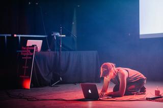 Yoneda Lemma, performing at The Long Progress Bar in Brighton in 2015