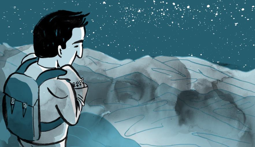 Artwork from Karrie Fransman's award-winning comic 'Over, Under, Sideways, Down'